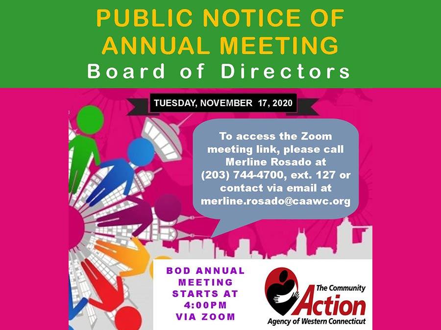 2020 Board of Directors Annual Meeting