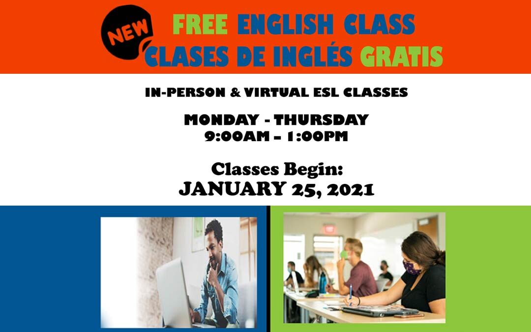 Free English Classes – In Person and Virtual ESL Classes